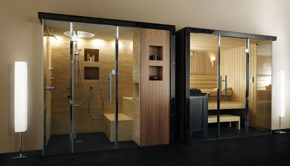 Sauna klafs fabricant sauna hammam douche tropicale vente for Hammam et sauna